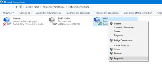 error dns server is not responding